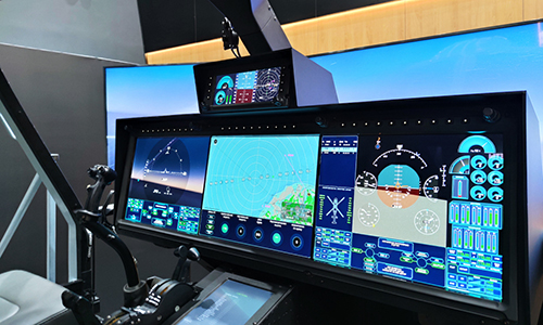 The cabin of the Russian helicopter of the future is shown